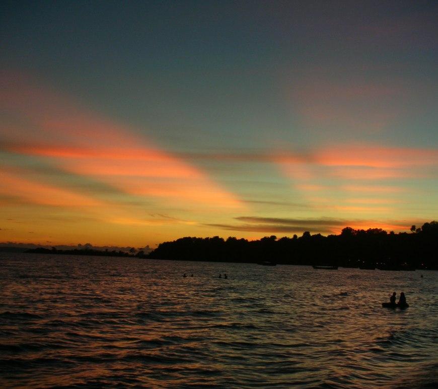 sunset, sihanoukville